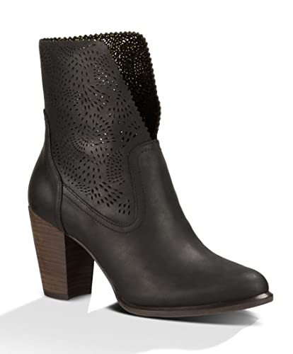 UGG Women's Thames Seaweed Perf Black Leather Boot