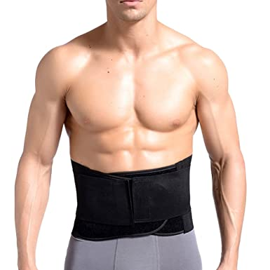 6a28a9ab5c Zhhlaixing Waist Trimmer Trainer Belt Tummy Belly Abdominal Belt Bands  Bodybuilding Breathable Anti-Slip Adjustable  Amazon.co.uk  Clothing