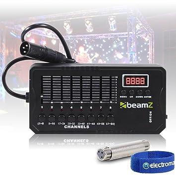 beamz DMX-512 Mini Lighting Controller 30 Pattern Compact Battery Light  Console