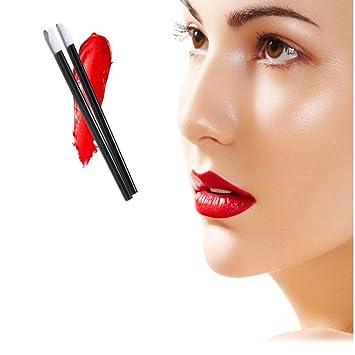 TAOtTAO - 100 pinceles de maquillaje desechables para pintalabios, varillas brillantes, aplicador de maquillaje: Amazon.es: Belleza