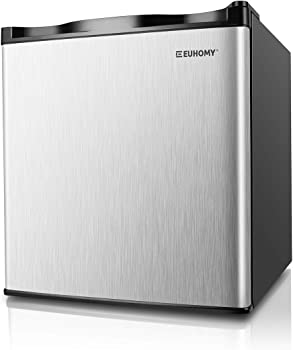 Euhomy 1.1 Cubic Feet Compact Upright Single Door Mini Freezer