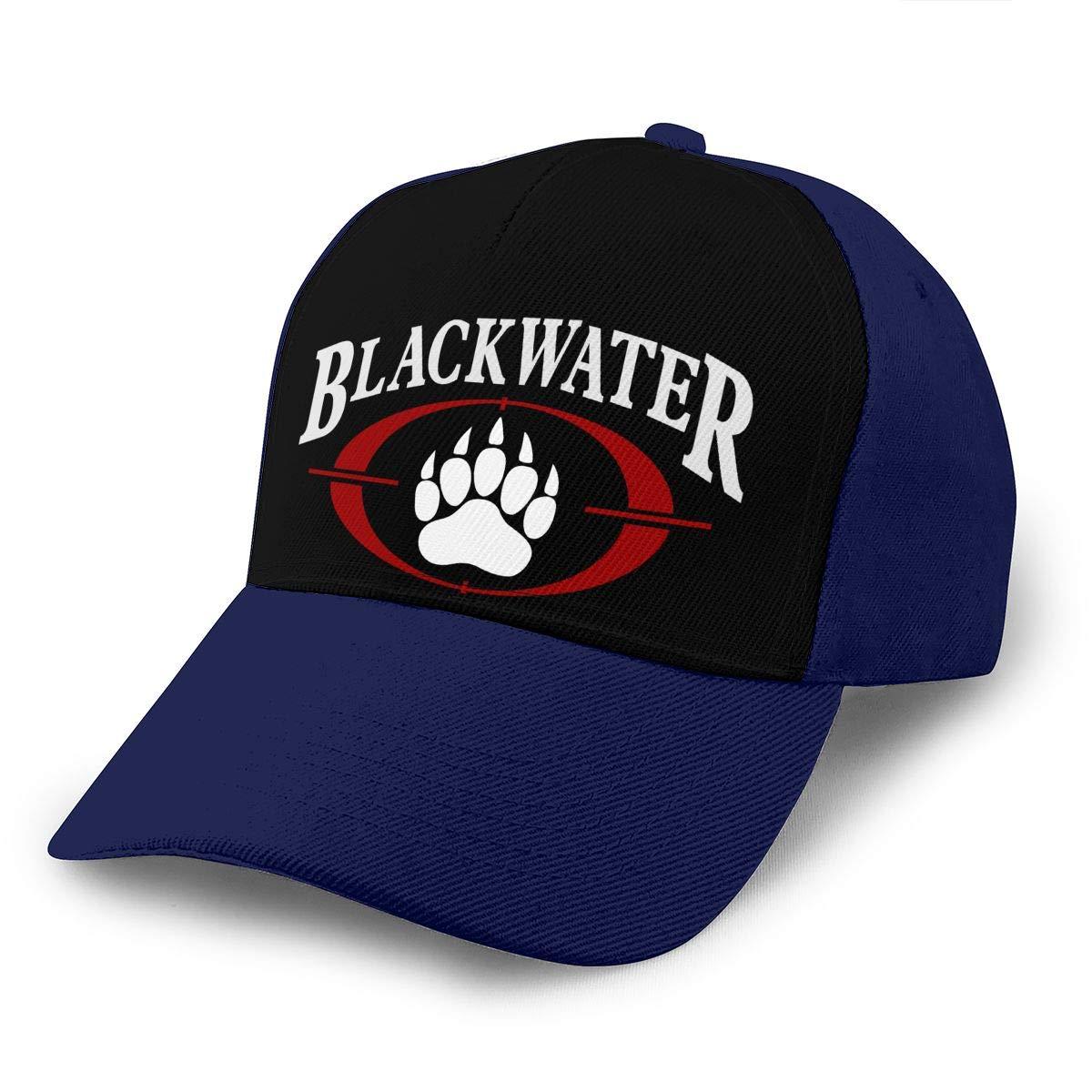 Adjustable Women Men Blackwater-Logo Print Baseball Cap Flat Brim Cap Hats Hip Hop Snapback Sun Hat Boys Girls Navy by Apolonia