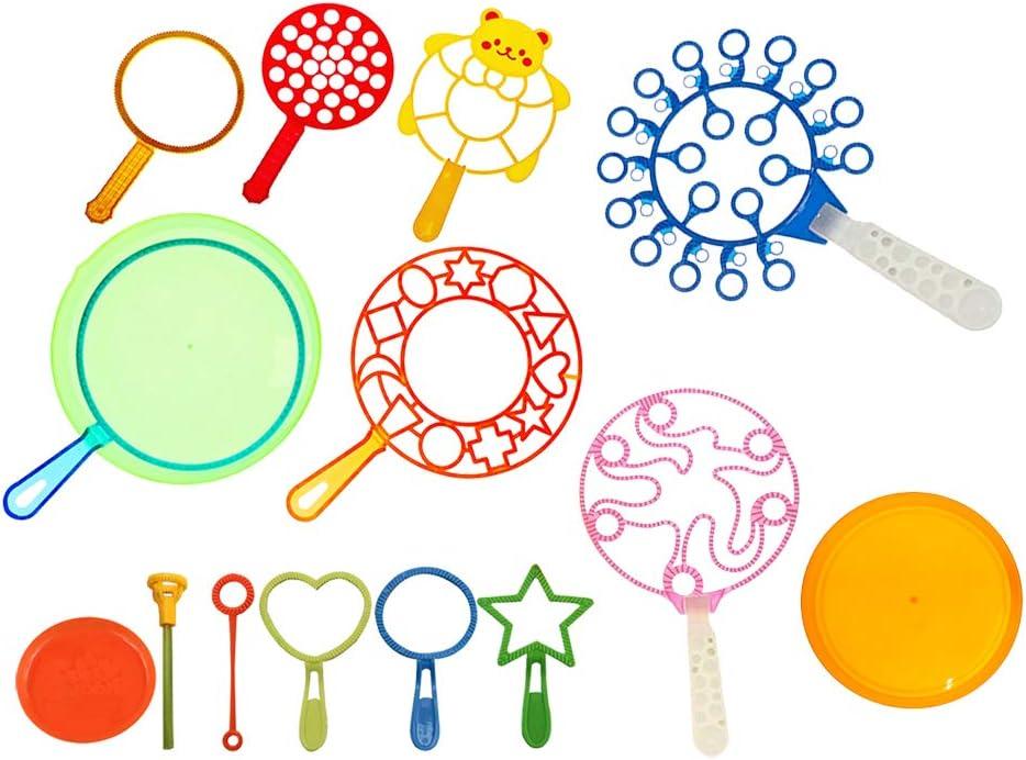 Soplador De Burbujas 15X Niños al Aire Libre Soplado Grandes Anillo de burbuja juguetes de la burbuja Maker
