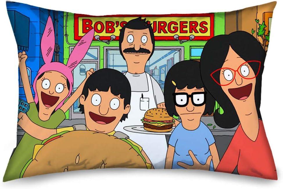 Pillowcase Bobs Burgers Belcher Family Group Pose4 Outside Restaurant Standard