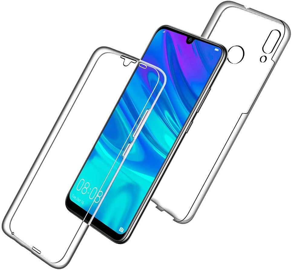 Silicone Front 360 Degree Ultra thin Premium TPU Protection Bumper Cover Case for Huawei P30 KP TECHNOLOGY Front and Back Case for Huawei P30 Transparent Crystal Clear Full Body PC Back