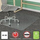 Deflecto SuperMat Clear Chair Mat, Medium Pile