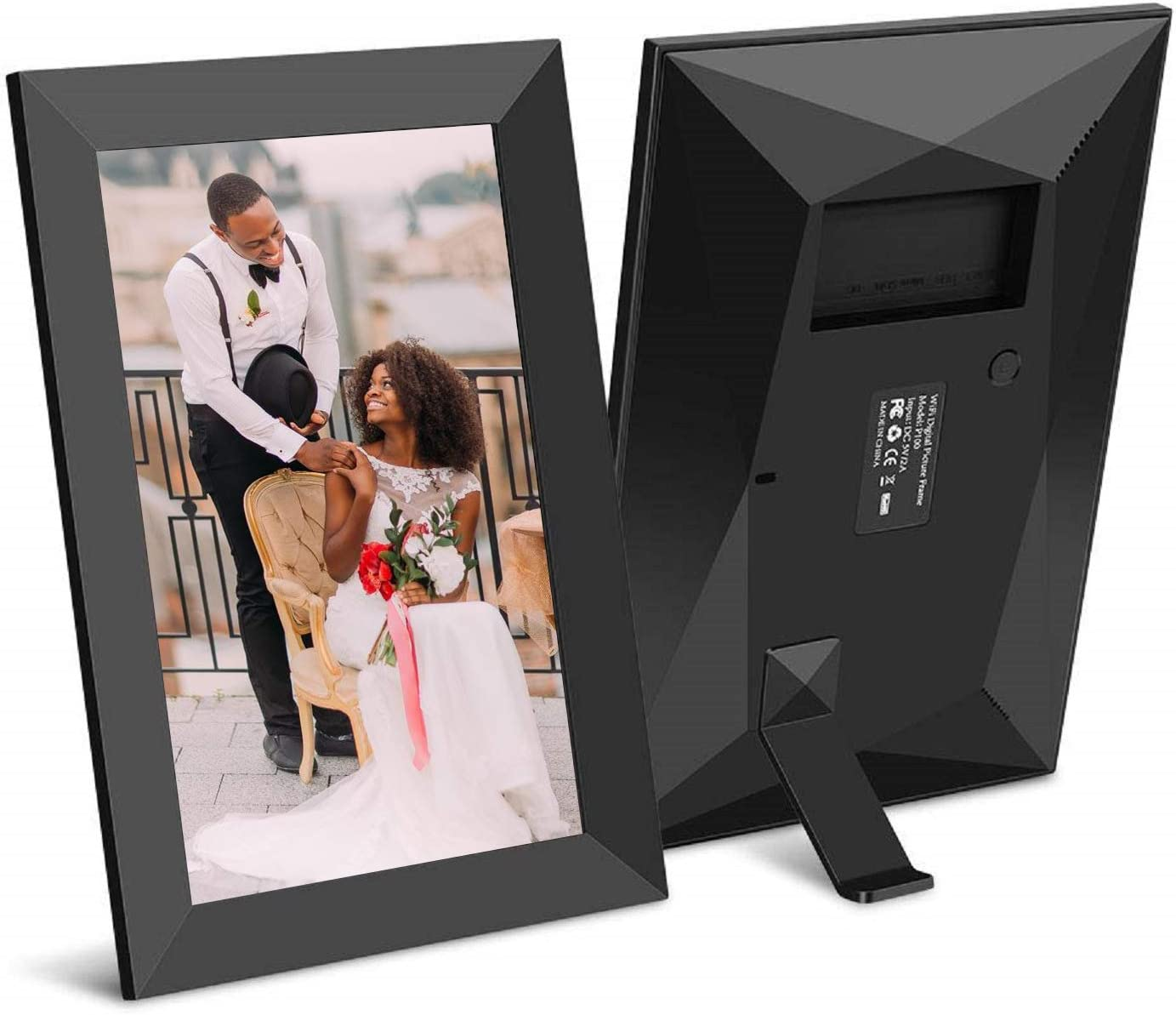 10.1Inch 16GB Smart WiFi Cloud Digital Photo Frame with 800×1280 IPS LCD Panel,Frameo App Send Photos from Anywhere,Touch Screen,Portrait and Landscape Black