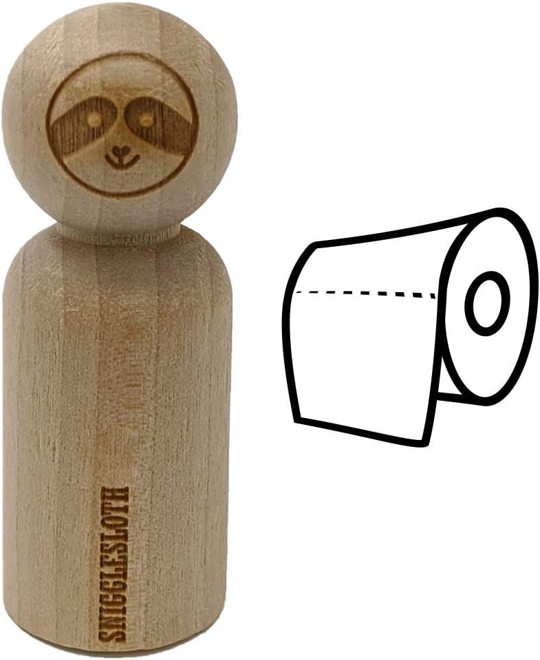 Toilet Paper Doodle Rubber Stamp for Stamping Crafting Planners
