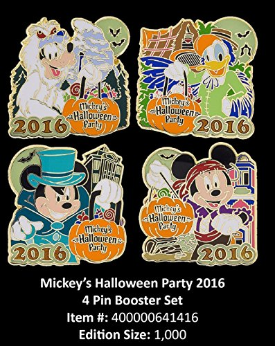 2016 Disneyland Mickey's Halloween Party Exclusively Pin Booster Set Of 4 LE1000 (Halloween Disney Land)