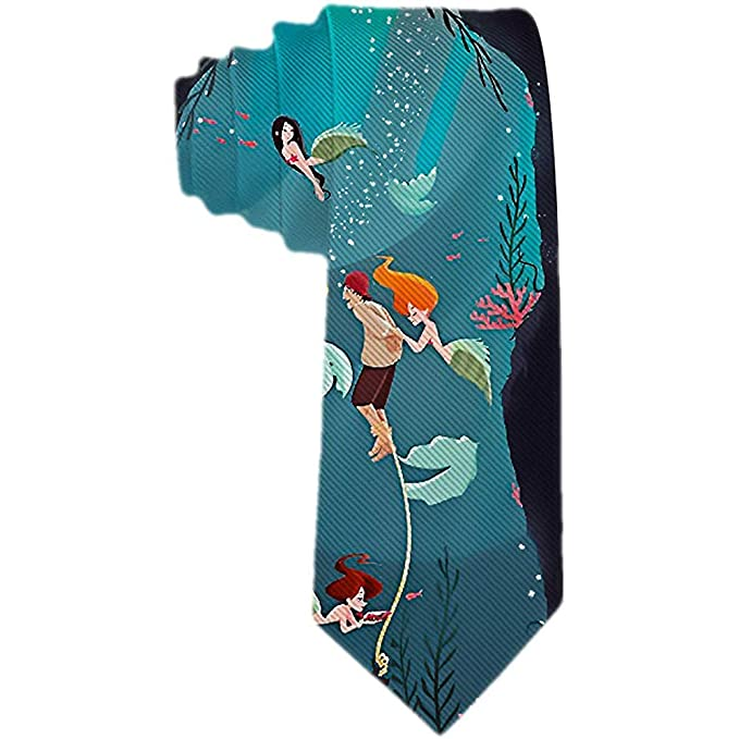 La sireNA de dibujos animados de la corbata de los hombres salva ...