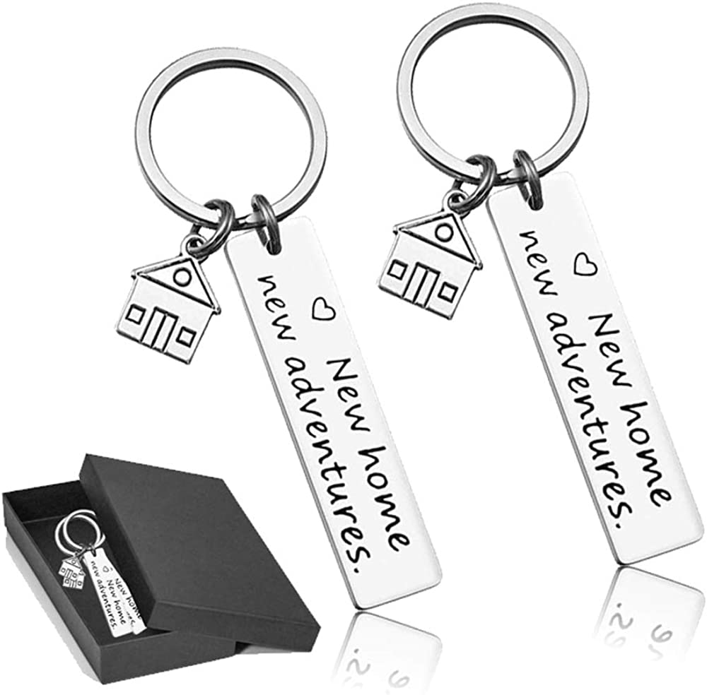 Our First Home Keychains New House Keychain New Home Keychain House Keyrings 2021 Housewarming Gift