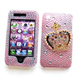 "Apple iPhone 3G & 3GS Bling Case, Rhinestone Snap-on Protector Hard Case for iPhone 3G / 3GS, ""Pink Princess"" Design"
