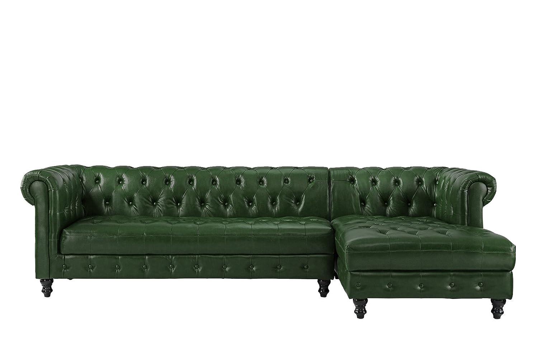 Amazon.com: divano Roma muebles Real clásico tela piel ...