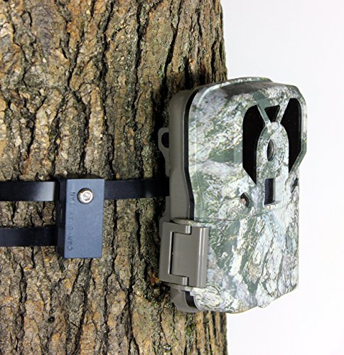 Accessories Security Camera Mount (Trail Camera Lock by Guardian - Game Cam Tree Mount Holder Accessory and Heavy Duty Metal Security Locking Strap To Replace Lockbox and Reduce Theft (48 inch 1 pack))