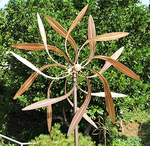 Kinetic Copper Dual Spinner - Dancing Willow Leaves Jumbo Version