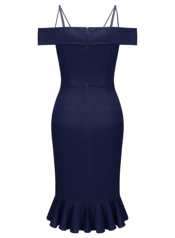 f205ac3045b2 Miusol Casual Off-Epaule Slim Crayon Robes de Soirée Femmes  Amazon.fr   Vêtements et accessoires