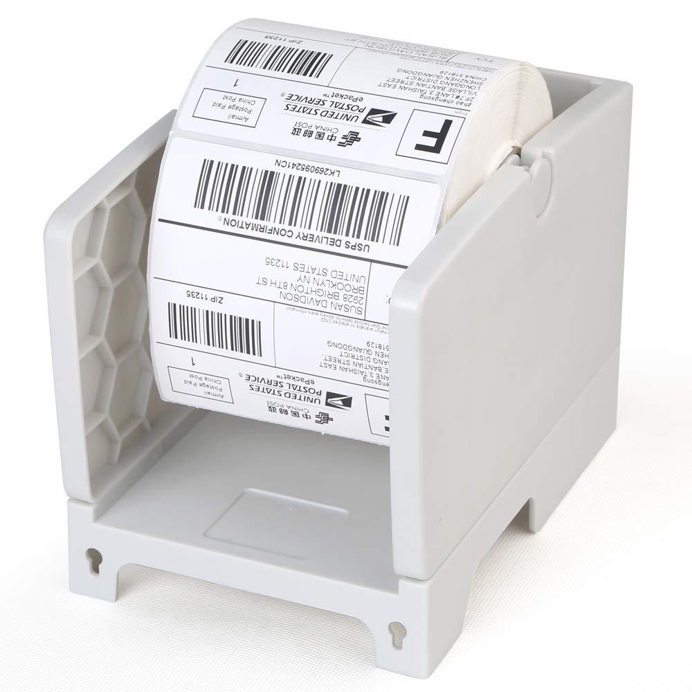 FANGTEK Label Holder for Rolls and Fan-Fold Labels for Desktop Thermal Barcode Printer