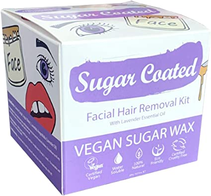 Amazon Com Sugar Coated Hair Removal Wax Kit For Facial Hair 1 X
