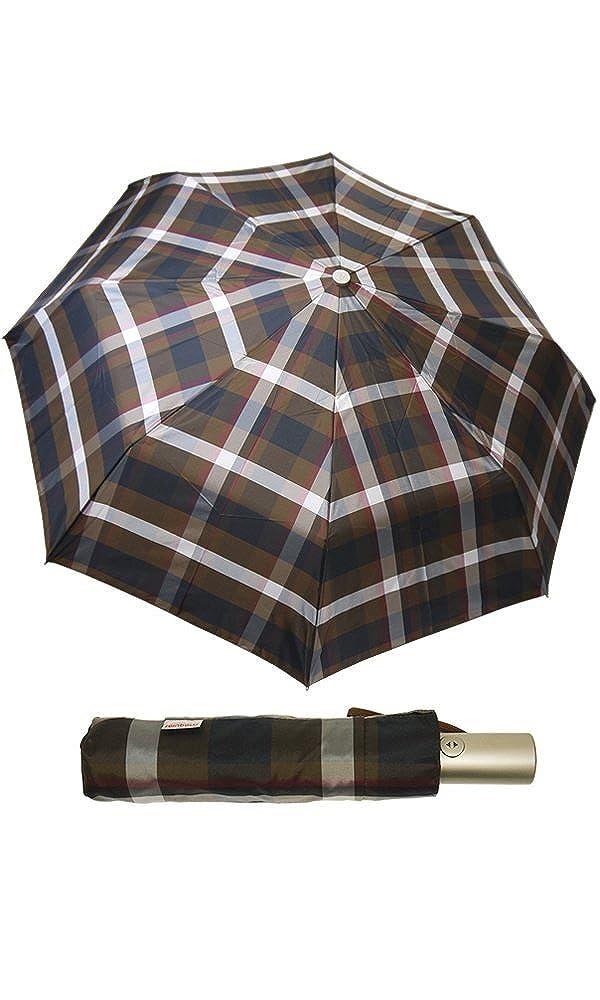 (レインボー) rainbowイタリア ミラノ 老舗傘ブランド  折りたたみ傘 ワンタッチ 自動開閉 チェック柄(全6色) B008CMXDCAコーヒーチェック