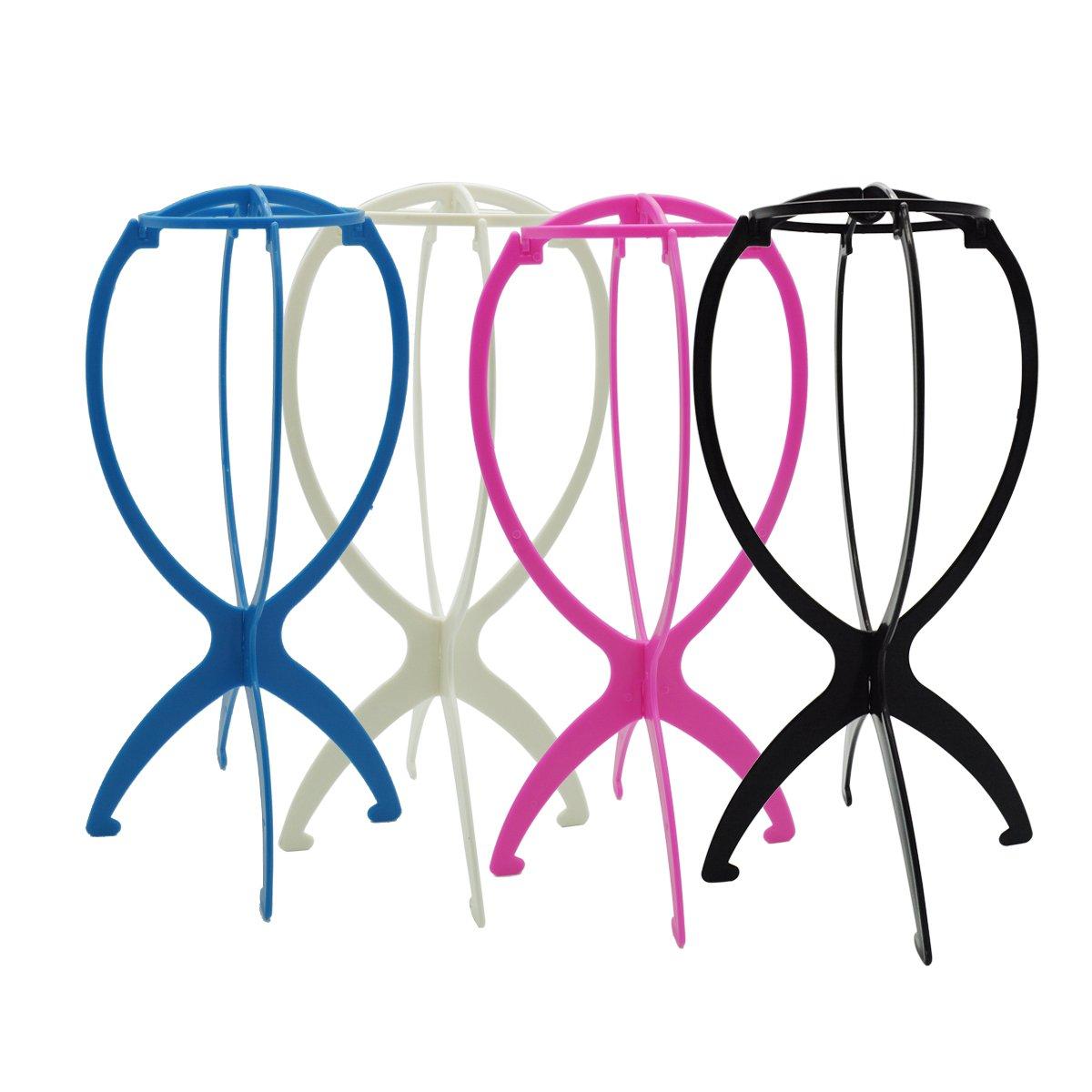 6pcs Wig Holder, YSLF Foldable Wig Holder Stand Wig Display Head Wig Dryer Rack Color Black by YSLF (Image #2)