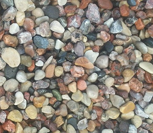 Safe & Non-Toxic {Various Sizes} 10 Pound Bag of Prewashed Gravel, Rocks & Pebbles Decor for Freshwater & Saltwater Aquarium w/ Earthy Toned Smooth River Inspired Polished Style [Tan, Red & Gray] by mySimple Products