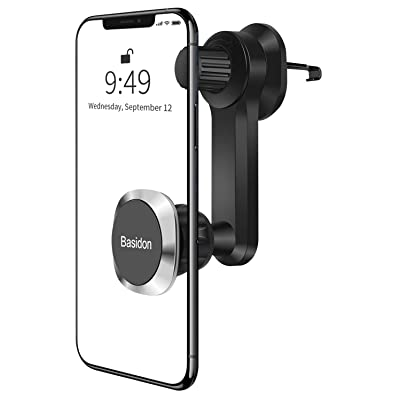 Adjustable Car Phone Holder Mount for Windshield; 360/° Rotate Cell Phone Holder for Car Dashboard; Air Vent Mounted; Phone Holder with Easy Clamp Suction Cup; iPhone; Samsung and More