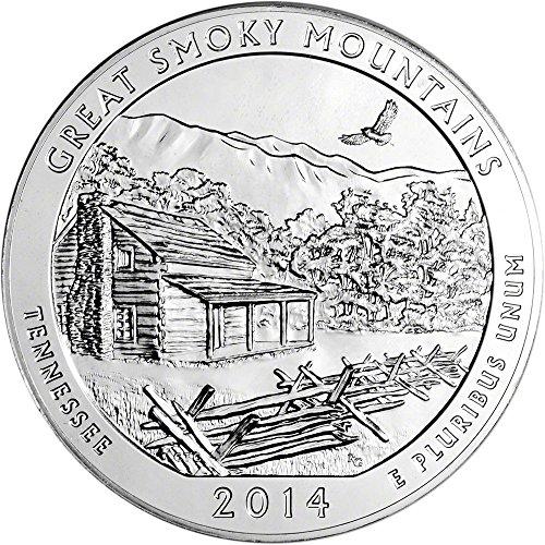 2014 ATB Silver (5 oz) Smoky Quarter Brilliant Uncirculated US Mint