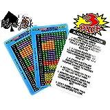 Blackjack Basic Strategy Advisor Card: 4/6/8 Decks, Dealer Hits Soft 17, Party Bundle - 3 Pack