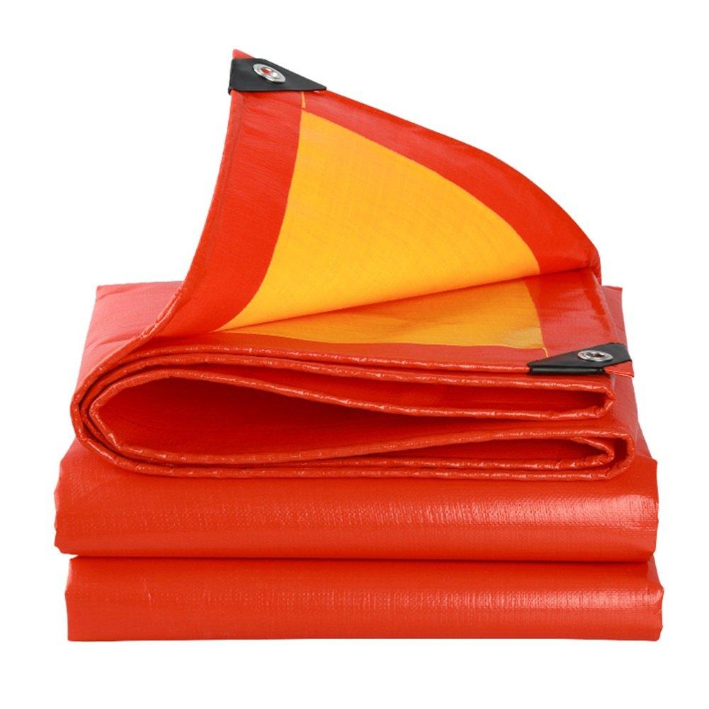 PENGFEI オーニング 厚い防水シート 防水 雨布 ピクニックマット 植物 日焼け止め 車 シェード 杼口 布 防塵の 断熱、 オレンジ+イエロー、 14サイズのオプション ( サイズ さいず : 3 x 4m ) B07BSL3RX9 3 x 4m  3 x 4m