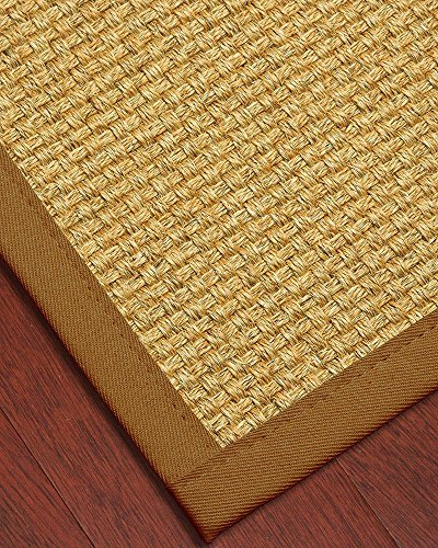 NaturalAreaRugs Amalfi Collection Sisal Area Rug, Made in USA, Wide Canvas Border, Non-Slip Latex Backing, Durable, Stain Resistant, Earth-Friendly, (4 Feet X 6 - Border Wide Canvas