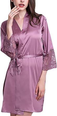 Batas Mujer Kimono Verano Elegantes De Encaje Manga 3/4 De ...