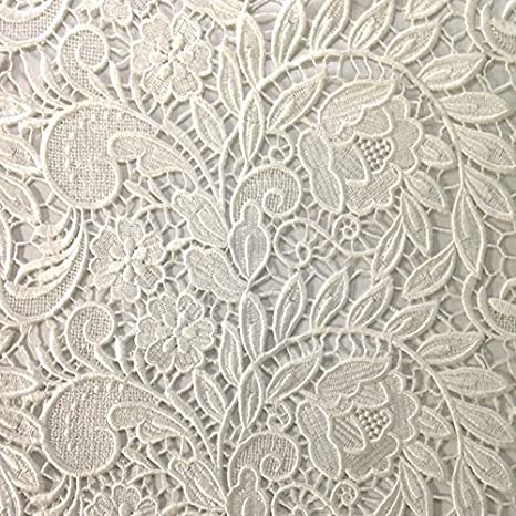 Gold Tulip Guipure French Venice Lace Embroidery 52 inches wide many colors