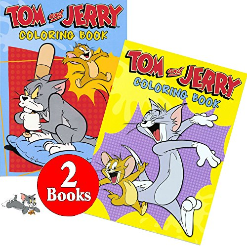 tom and jerry coloring and activity book set 2 books 96
