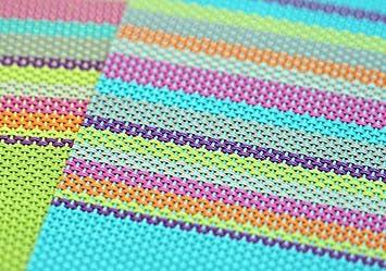 r/ésistant /à la Chaleur et antid/érapant Ruikey Set de Table//napperon de PVC color/é de mod/èle de Rayure de Mode