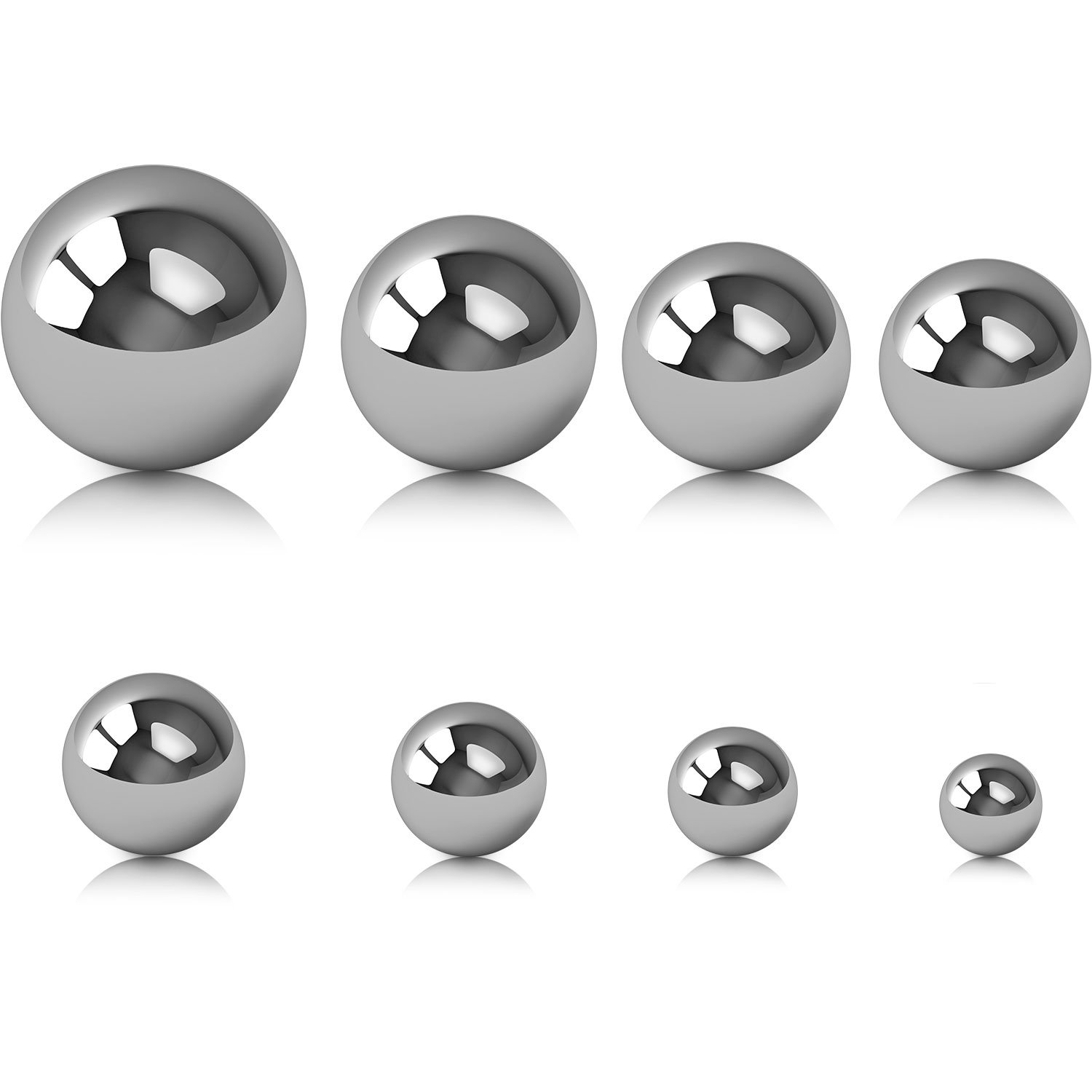 SATINIOR 8 Pieces Coin Ring Making Balls Monkey Fist Balls Stainless Steel Balls, Assortment of 3/ 4 Inch, 5/ 8 Inch, 9/ 16 Inch, 1/ 2 Inch, 7/ 16 Inch, 3/ 8 Inch, 5/ 16 Inch and 1/ 4 Inch