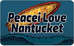 Makoroni - Peacei Love Nantucket Surfing Beach Des#2 Refrigerator Wall Magnet 2.75x3.5 inc