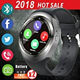 Smart Watch Round Fitness Tracker Bluetooth Smartwatch Unlocked Cell Phone Watch with SIM Card Kids Sport Watch with Pedometer Monitor Wearable Sync Phone Calls SMS for Android iOS Men Women Kids