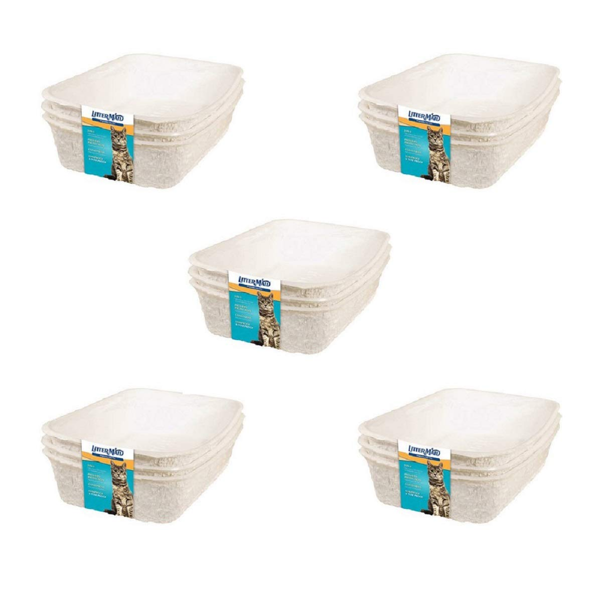 LitterMaid P-70000 Disposable Litter Box (3 Pack) (15 Pieces) by LitterMaid