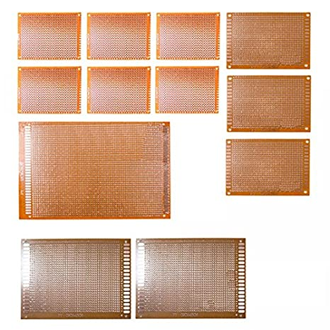 amazon com sodial(r) 12pcs kit prototyping pcb printed circuitamazon com sodial(r) 12pcs kit prototyping pcb printed circuit board prototype breadboard stripboard home improvement