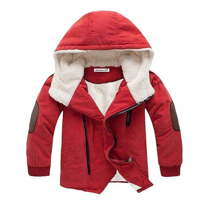 Amazon.com: Chaqueta de invierno para niños con capucha para ...