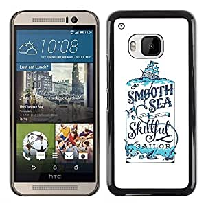 A-type Colorful Printed Hard Protective Back Case Cover Shell Skin for HTC One M9 ( Sailor Smooth Cologne Sea Smooth )