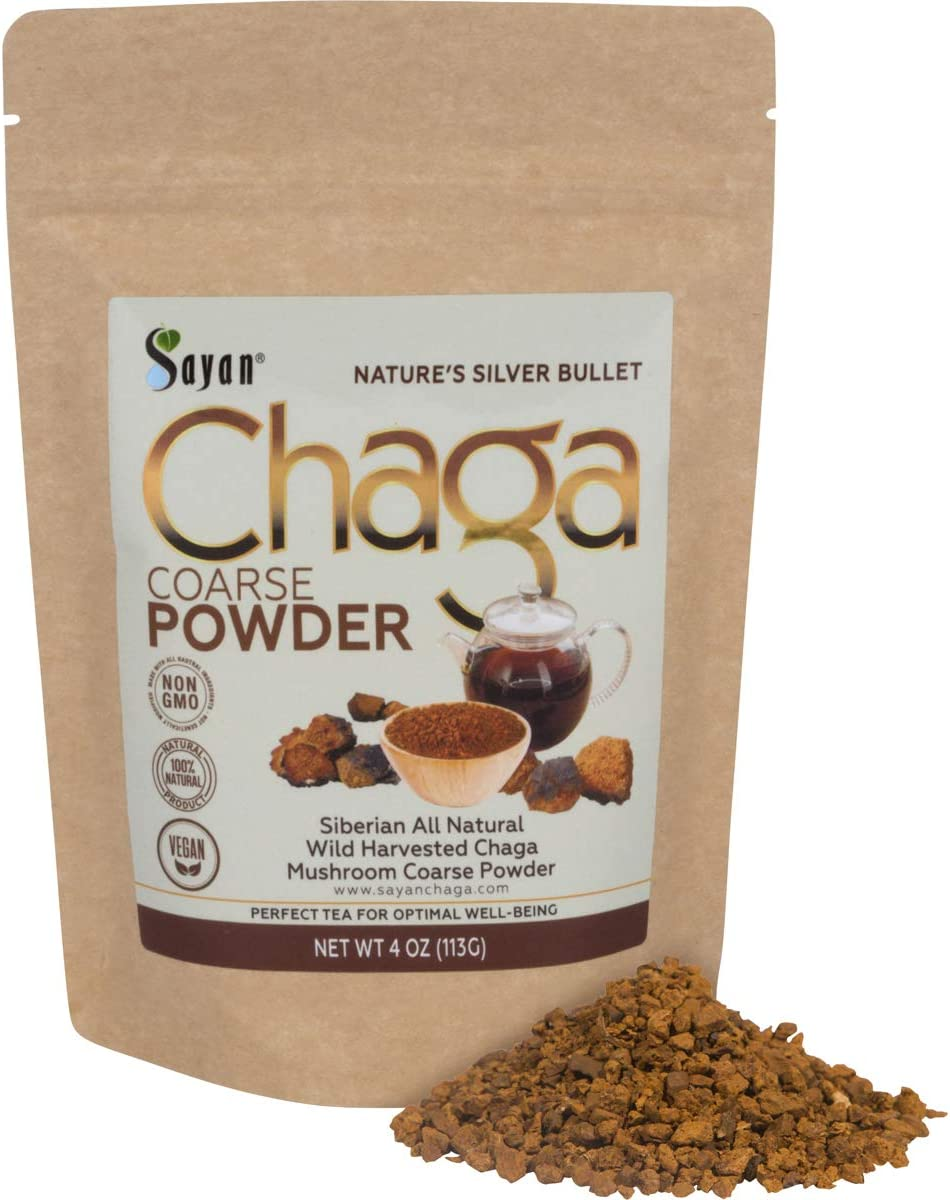 Sayan Siberian Raw Coarse Chaga Powder 4 Oz 113g