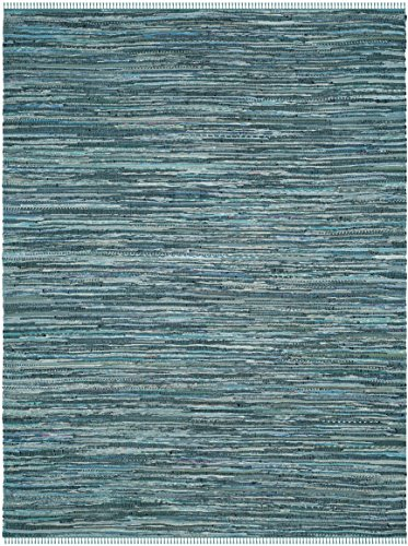 Safavieh Rag Rug Collection RAR127C Hand Woven Turquoise and Multi Cotton Area Rug (8' x 10')