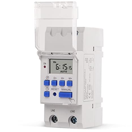 SINOTIMER High LOAD 220V 30A 7 días programable digital TIMER SWITCH Control de tiempo de relé