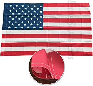 4Less AWS 3x5 Ft American Flag with Sleeve Pole Pocket - USA Polyester (Imported)