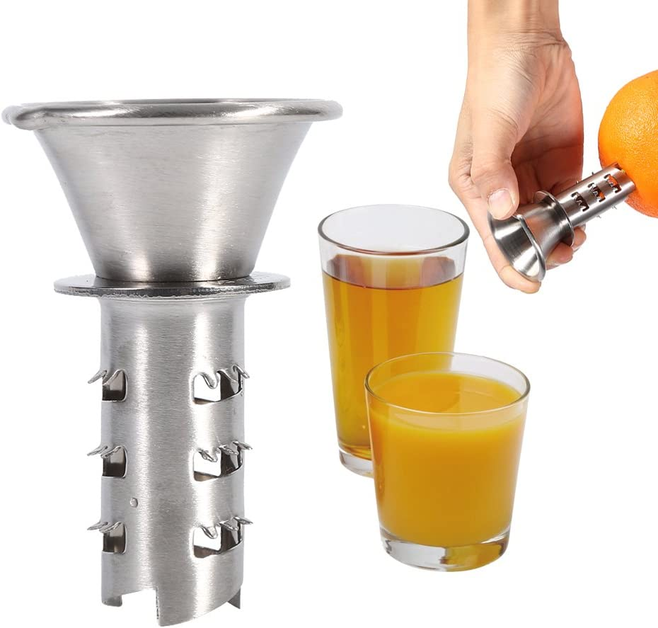 Hand Press Juicer,Citrus Press Lemon watermelon Juicer Stainless Steel Sprayer Citrus Spray Hand Fruit Juicer Squeezer Reamer Kitchen cooking Tools (2 Pack)