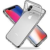 Youriad iPhone xs x ケース カバー | 特徴 軽量 インチ 薄型 ストラップ 滑り止め ワイヤレス充電対応 落下防止 TPU 透明 クリア ソフト (iPhonexs iphonex)