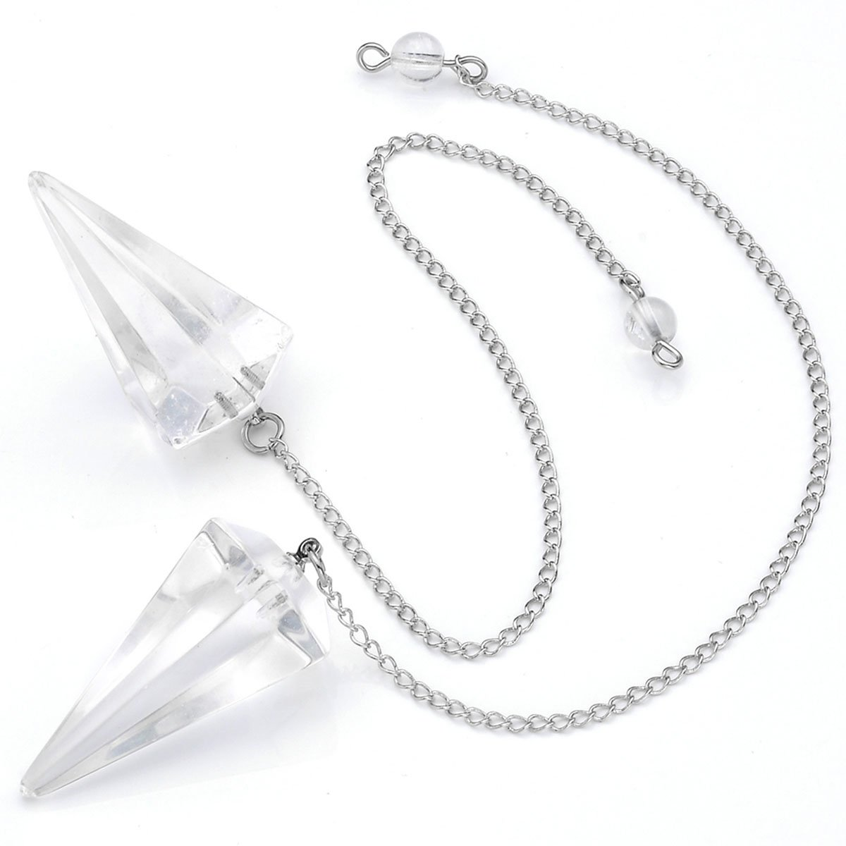 Balancing Rough Amethyst Rose Quartz Stones for Reiki Meditation CrystalTears Healing Crystals Therapy Kit~7 Chakra Gemstone Pendulum for Dowsing Divination