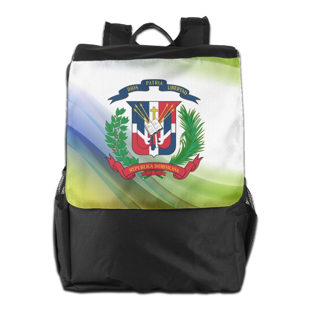 Nollm Coat Of Arms Of The Dominican Republic Lightweight Backpack Travel Shoulder Bag For Men Women And Teens
