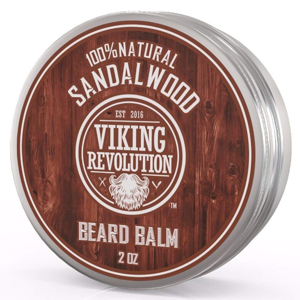 Viking Revolution Beard Balm with Sandalwood Scent